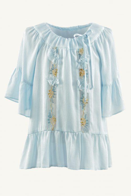 Bluză de vară pentru fete Blue Boeme