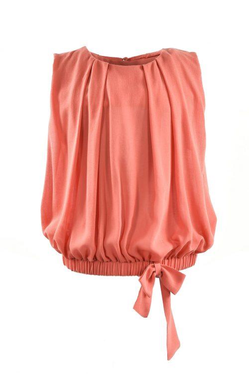 Bluză de vară pentru fete Salmon Bow