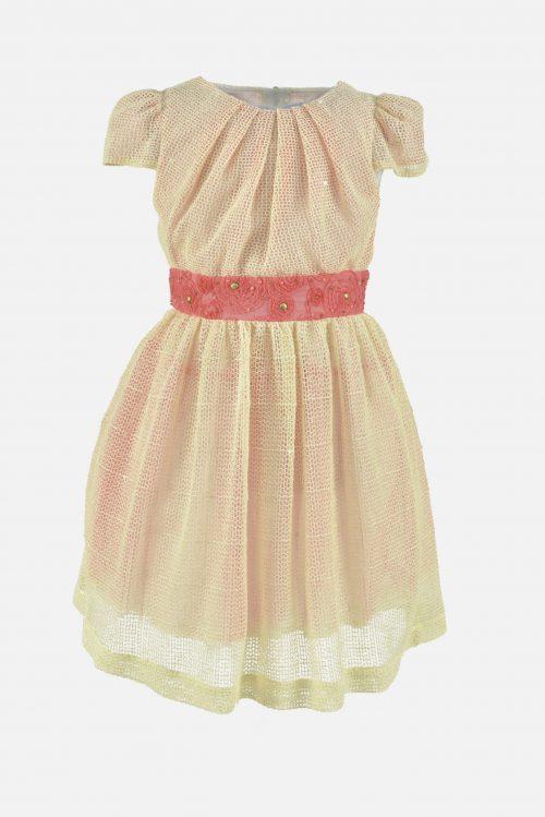 Rochie de vară pentru fete Yellow Net