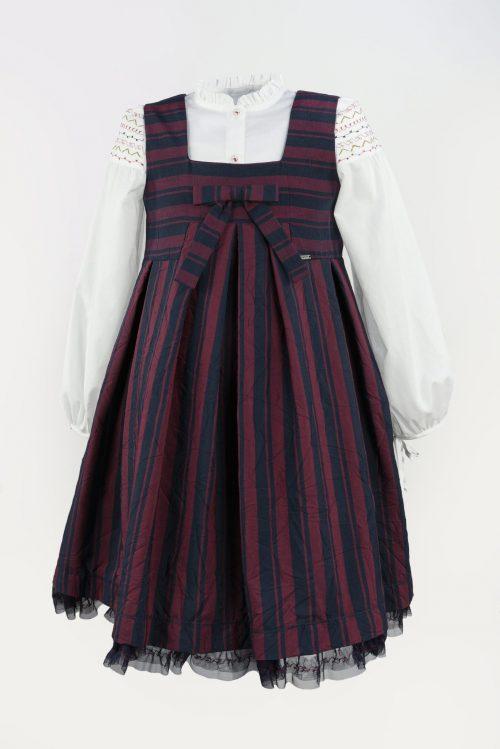 Sarafan pentru fete Red Stripes
