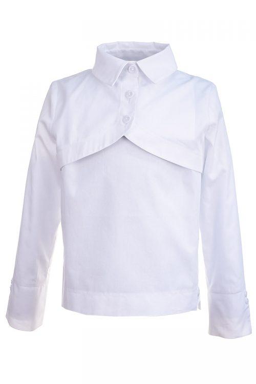 Cămașă albă de școală pentru fete Cotton