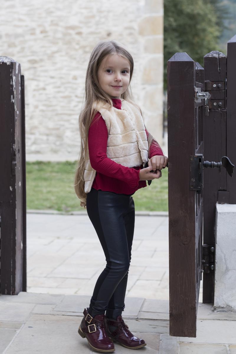 Vestă de blană pentru fetițe Golden Fluff