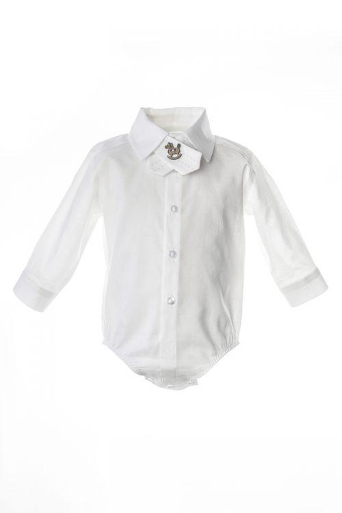 Cămașă-body albă pentru bebeluși