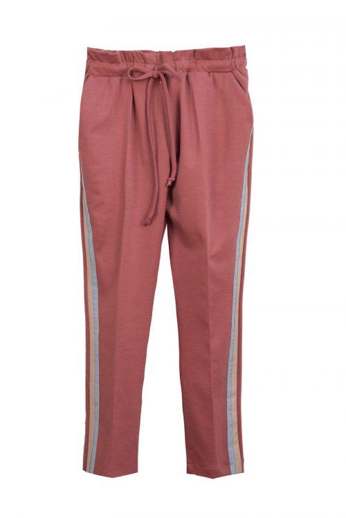 Pantaloni roz pentru fete Pastel Stripe