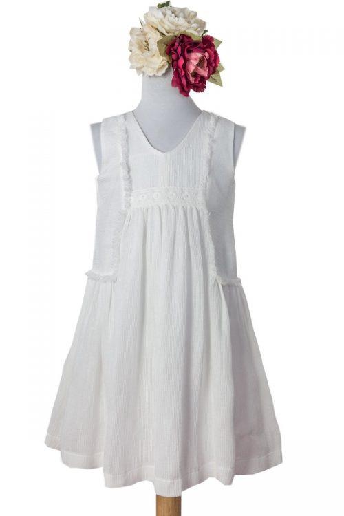 Rochie albă pentru fete Ava