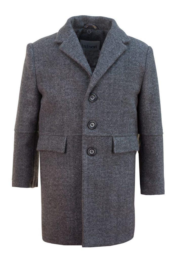 Palton gri pentru băieți Mason