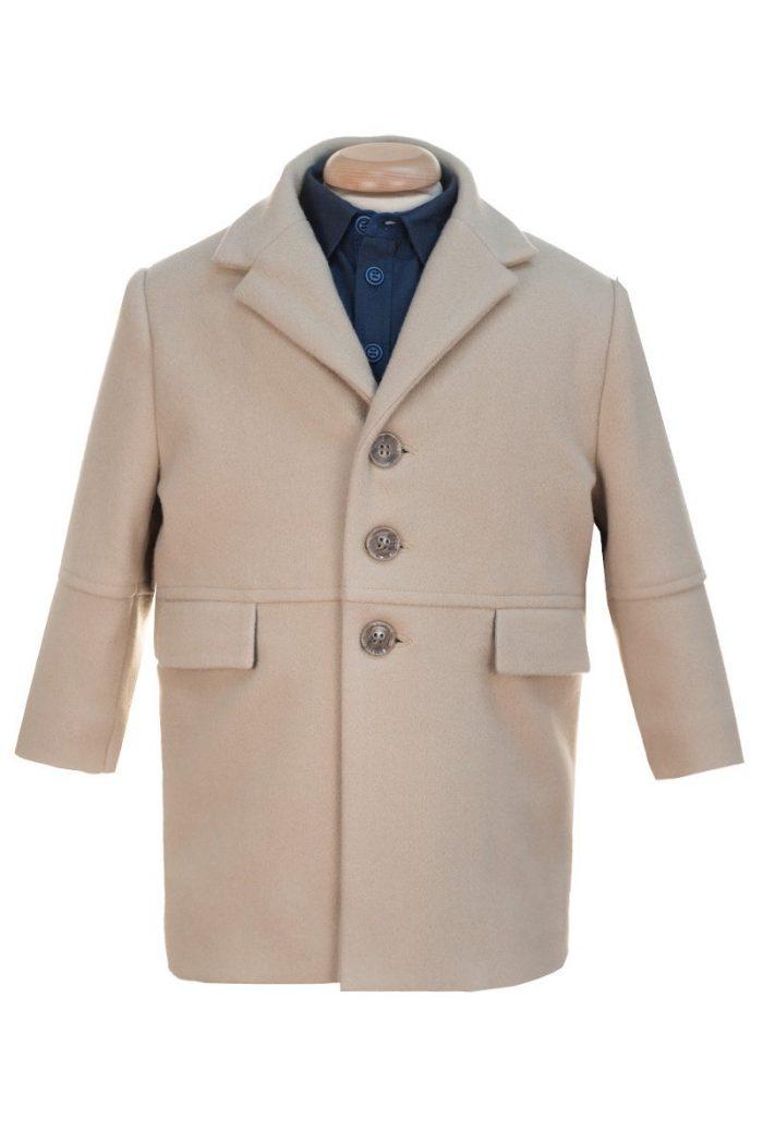 Palton de iarnă bej pentru băieți Liam