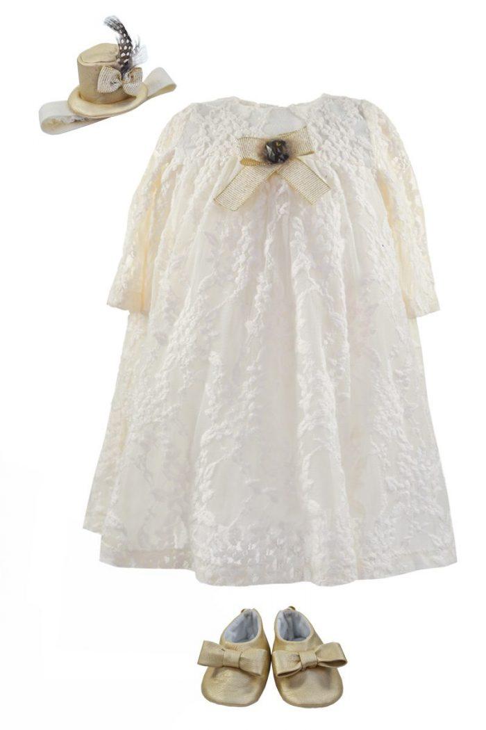 Rochie de botez pentru fetițe Isabella
