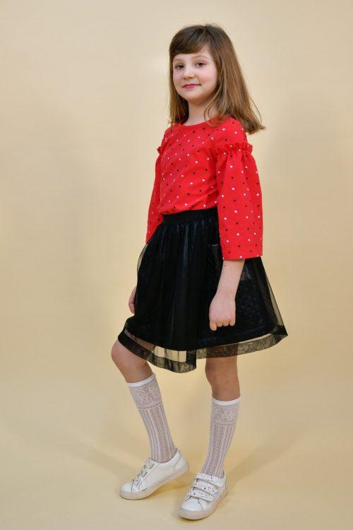 Bluză roșie pentru fete Cora