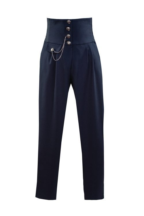 Pantaloni de școală bleumarin pentru fete Natalie