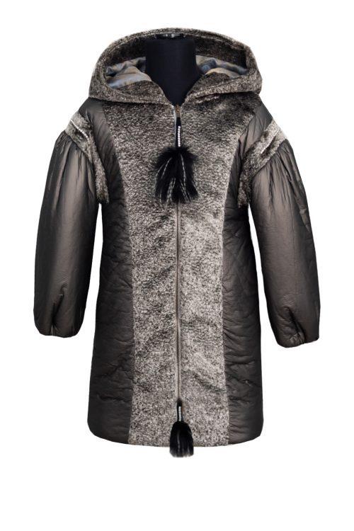 Palton gri pentru fete Lorena