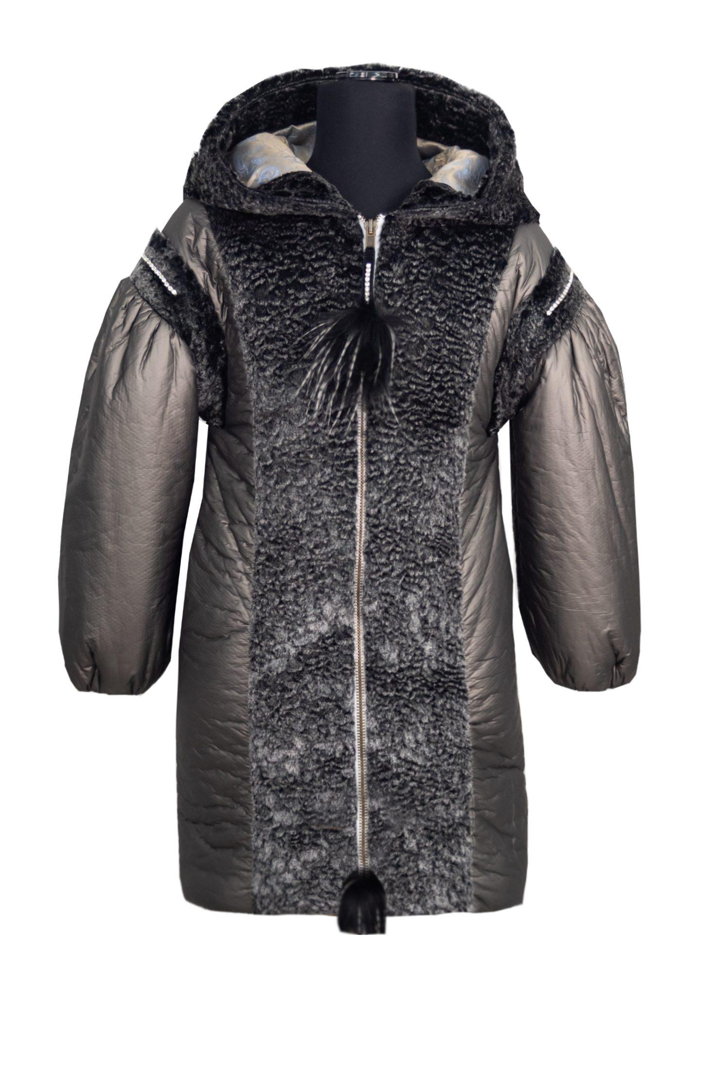 Palton gri pentru fete Casia