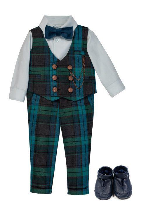 Costum de botez pentru bebeluși Simon