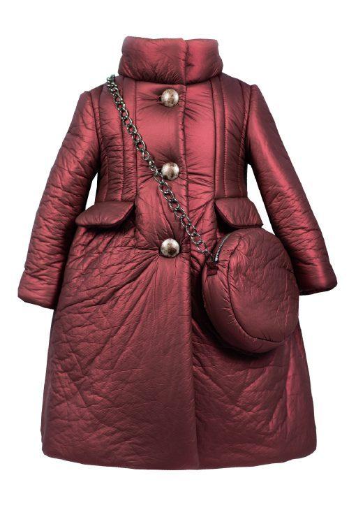 Palton de iarnă roșu pentru fete Selena