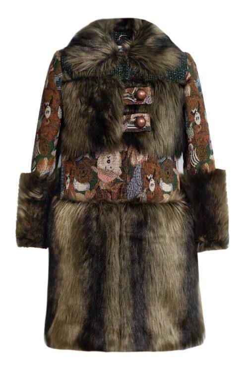 Palton de blană pentru fete Anabella
