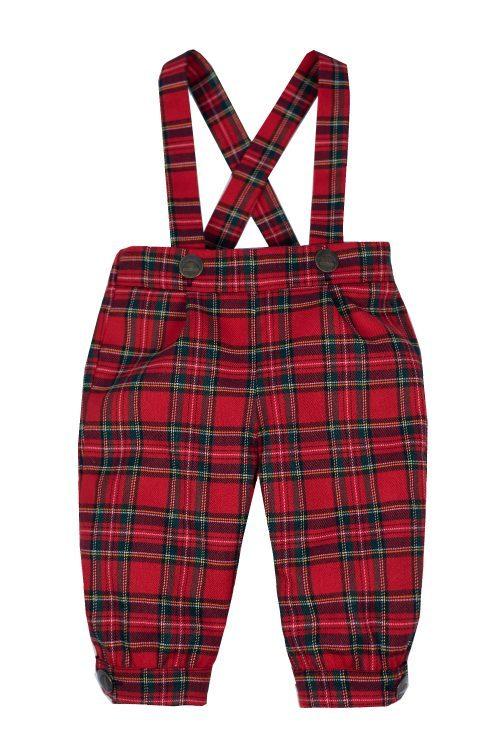 Pantaloni cu bretele pentru bebeluși Laur