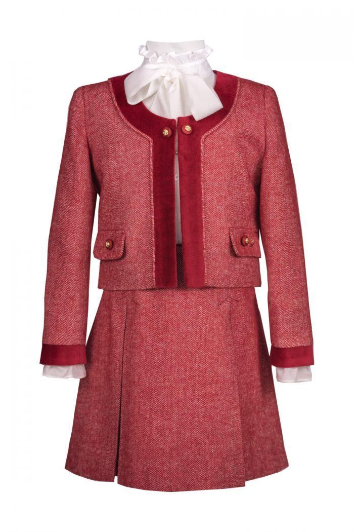 compleu pentru fete jacheta și fusta IRIDOR