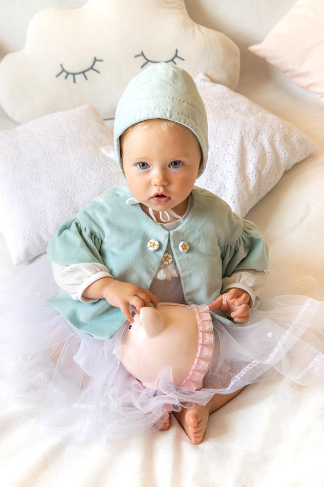 Rochie de botez pentru fetițe Erica si pelerina