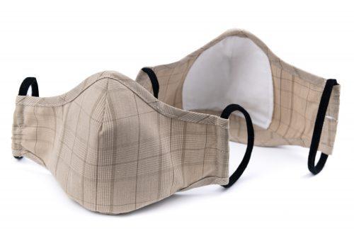 Mască textilă de protecție Beige Sensation