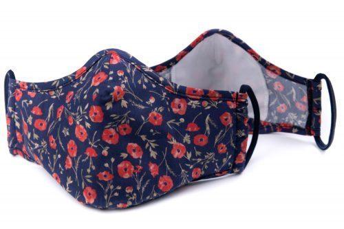 Mască textilă de protecție Summer Poppy - exterior
