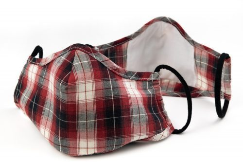 Mască textilă de protecție Summer Plaids -exterior