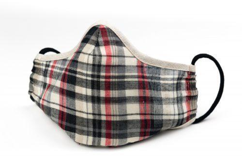 Mască textilă de protecție Dark Rectangles