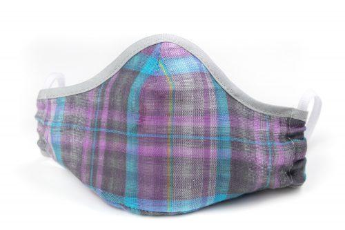Mască textilă de protecție Lavender Squares - exterior