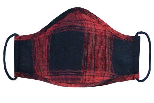 Mască textilă de protecție Scarlet Squares - exterior