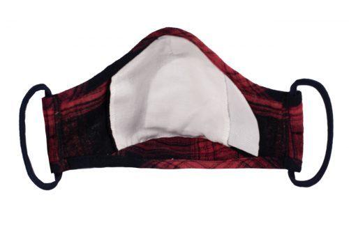 Mască textilă de protecție Scarlet Squares - interior