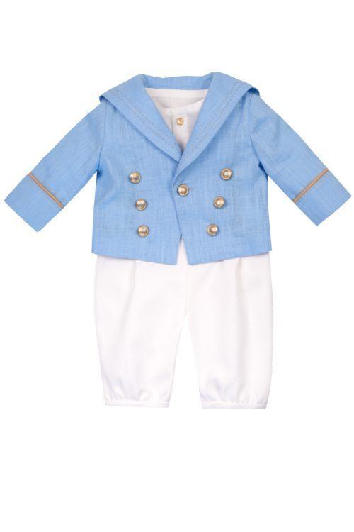 Costum de botez pentru băieței Baby Blue