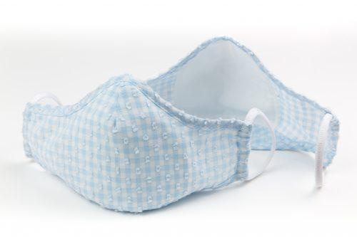 Mască textilă de protecție Feathery Blue