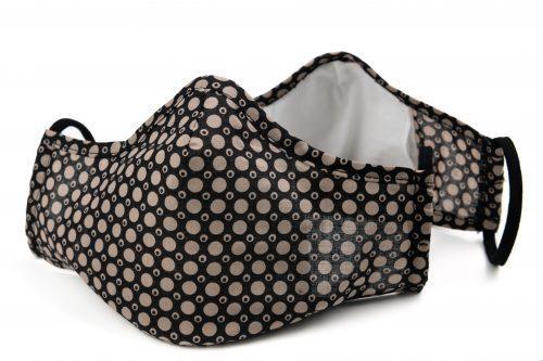 Mască textilă de protecție Creamy Dots