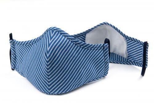 Mască textilă de protecție Blue Lines