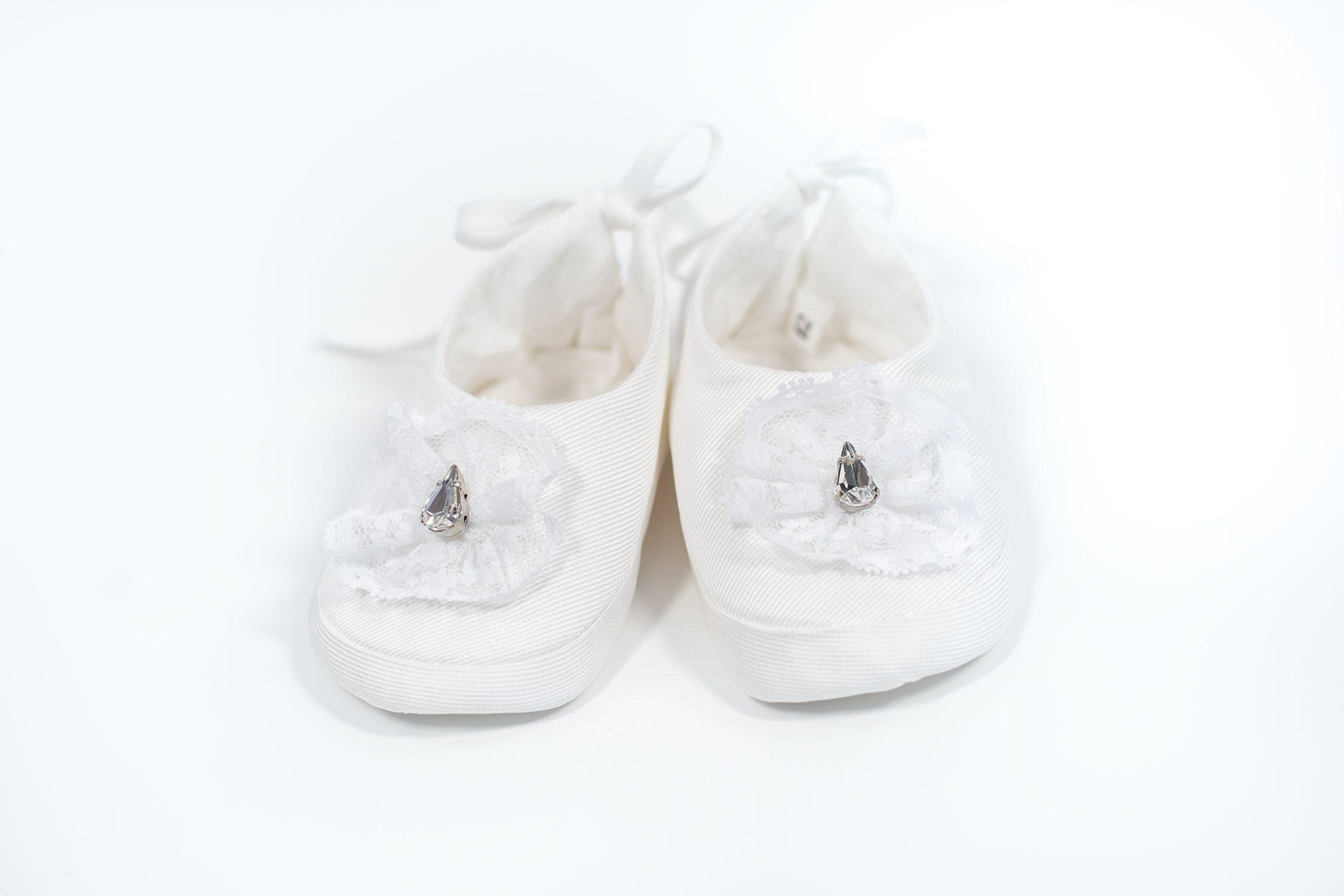 Papucei de botez pentru fetițe Alma