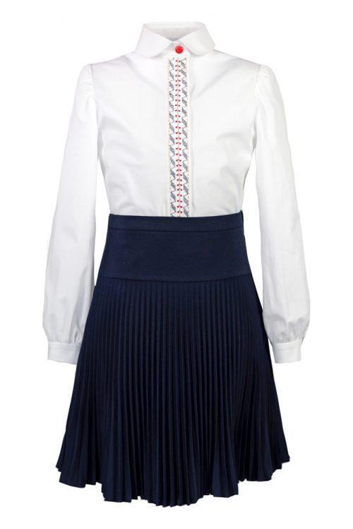 Fustă bleumarin de școală Dariana