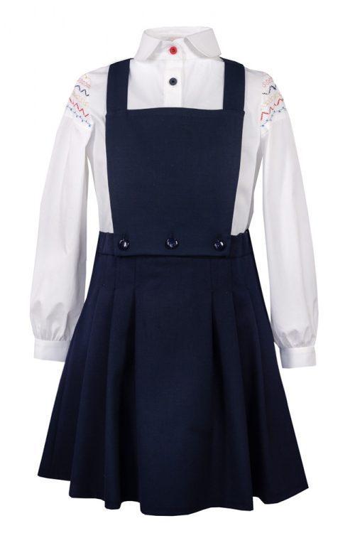 Sarafan de școală bleumarin Luna