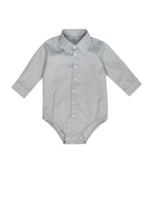 Cămașă body pentru bebeluși Grey