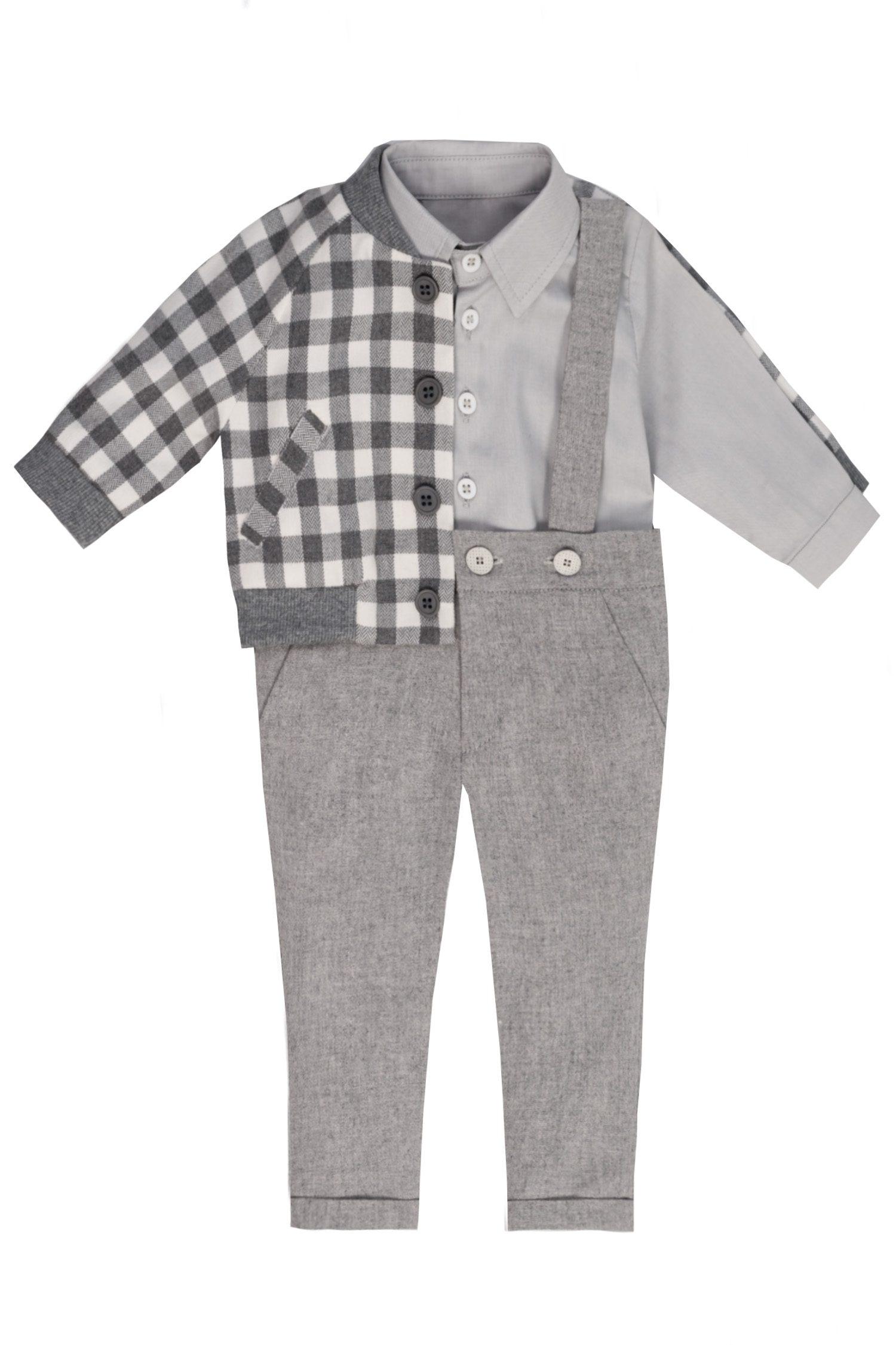 Costum de botez pentru bebeluși Grey
