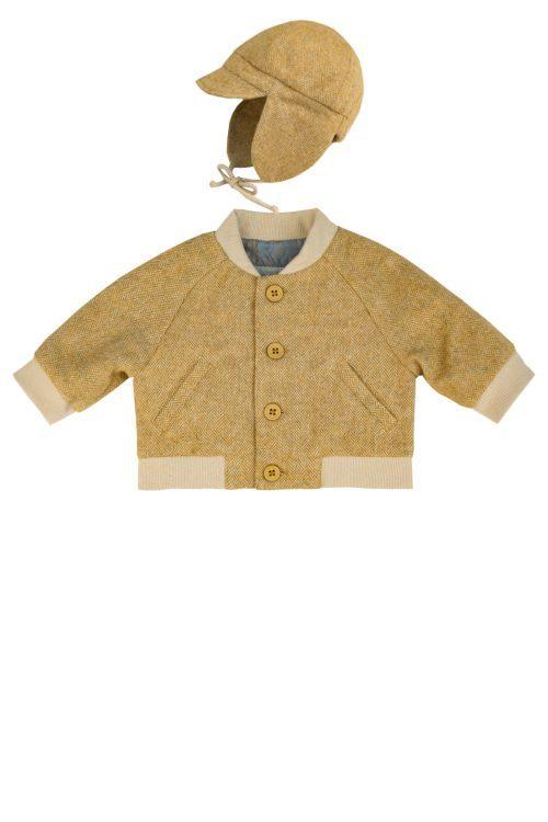 Jachetă muștar pentru băieței Ennio