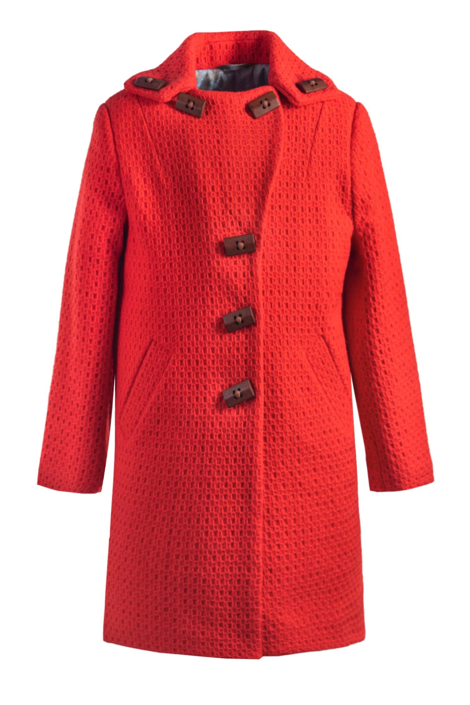 Palton roșu pentru fete Mila IRIDOR 1