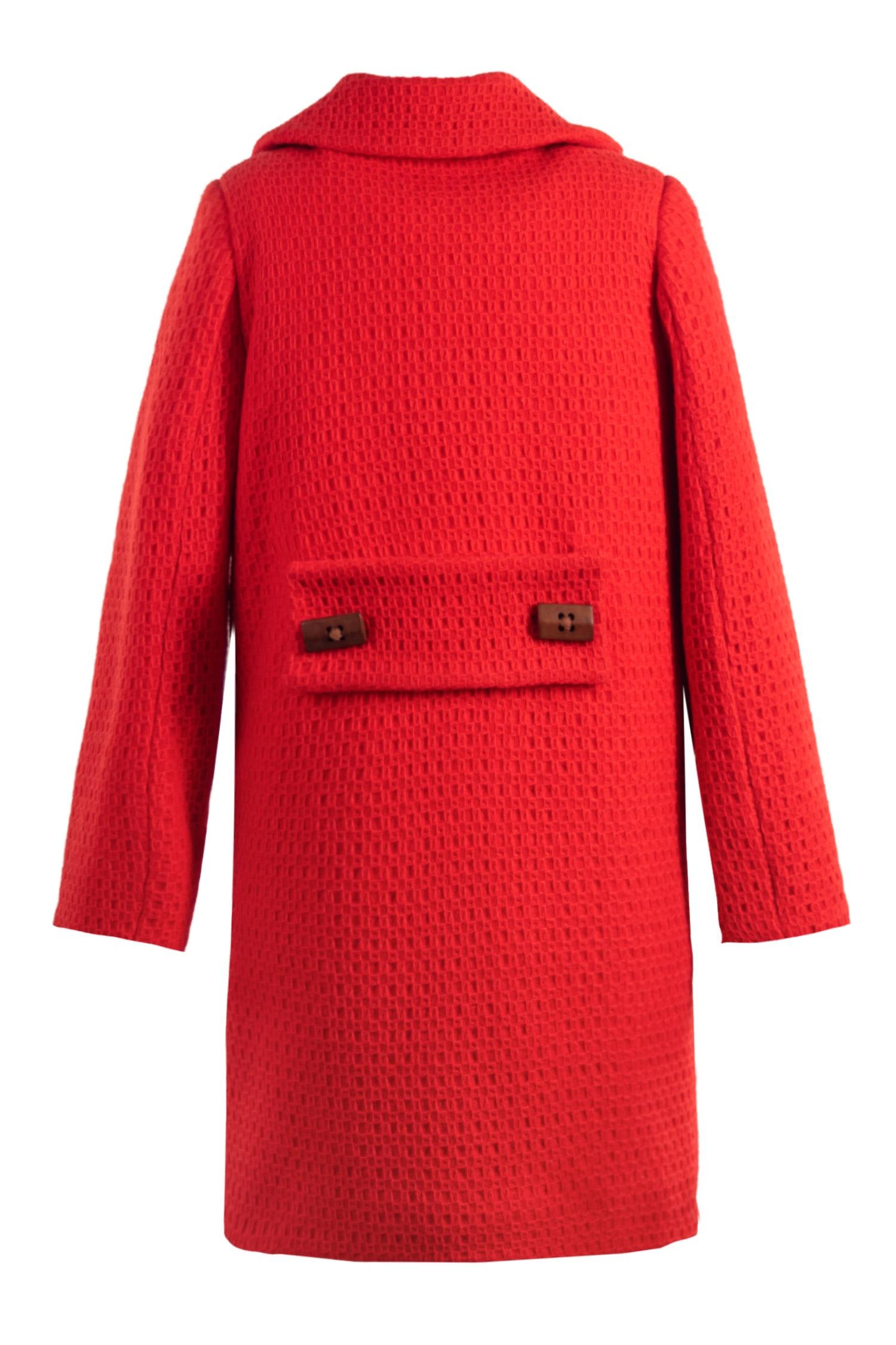 Palton roși pentru fete Mila IRIDOR