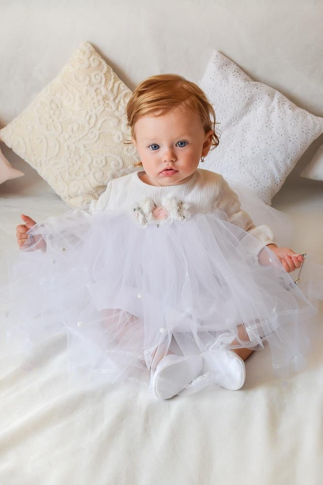 Rochie de botez alba fetite RBB013 IRIDOR