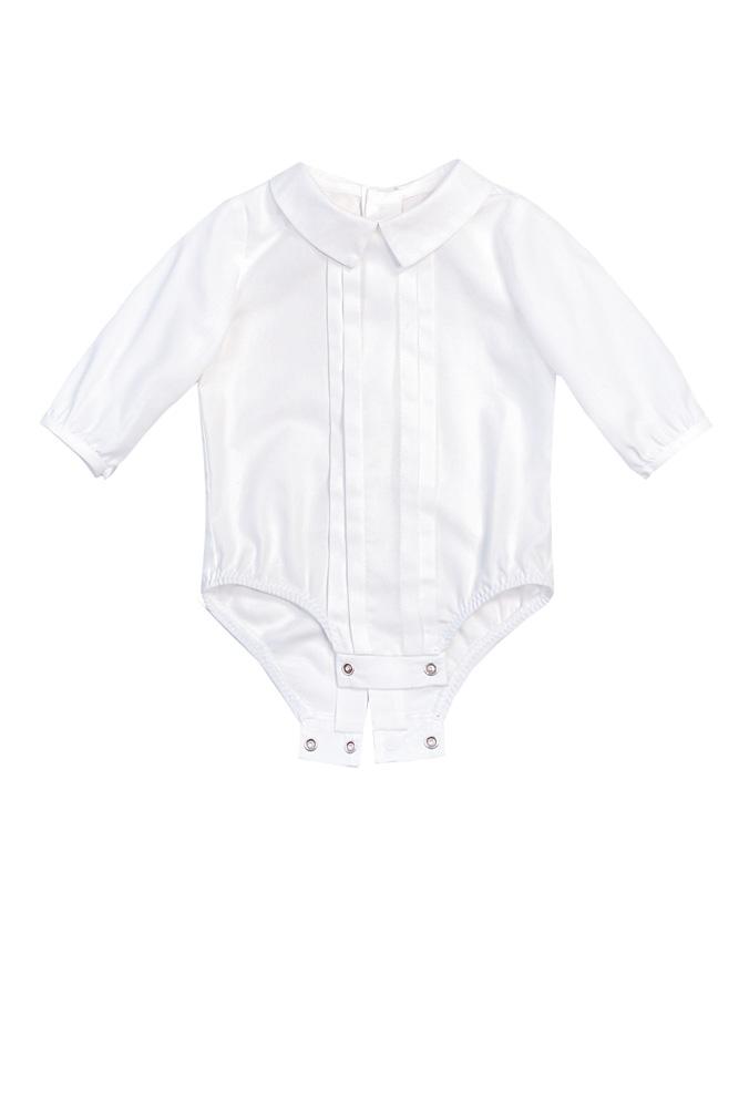 Cămașă-body albă pentru bebeluși Nick