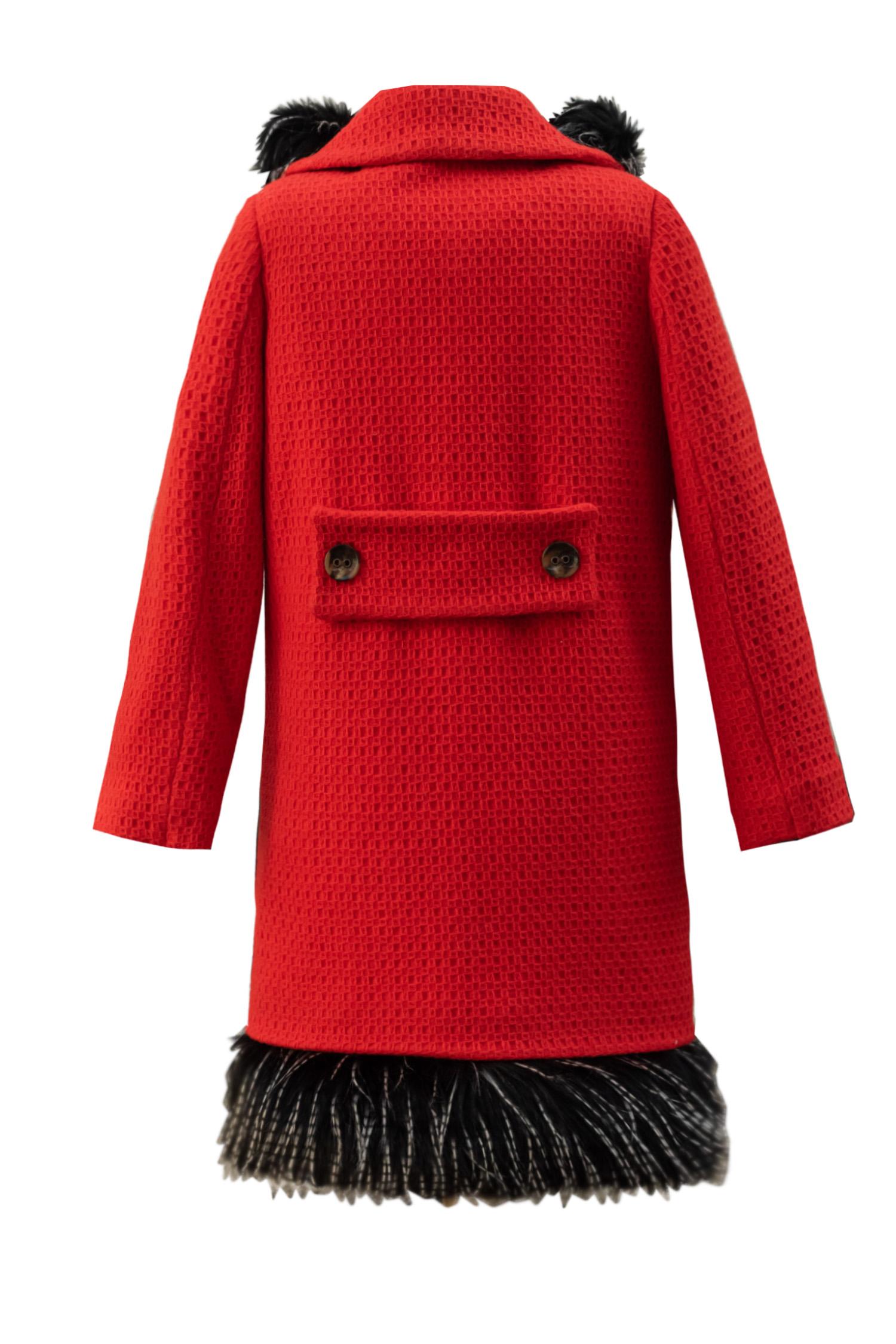 Palton roșu pentru fete Mellie