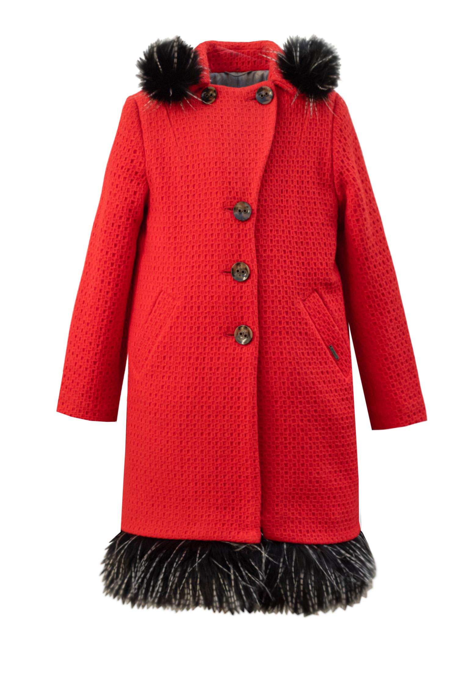 Palton roșu de lână pentru fete Mellie