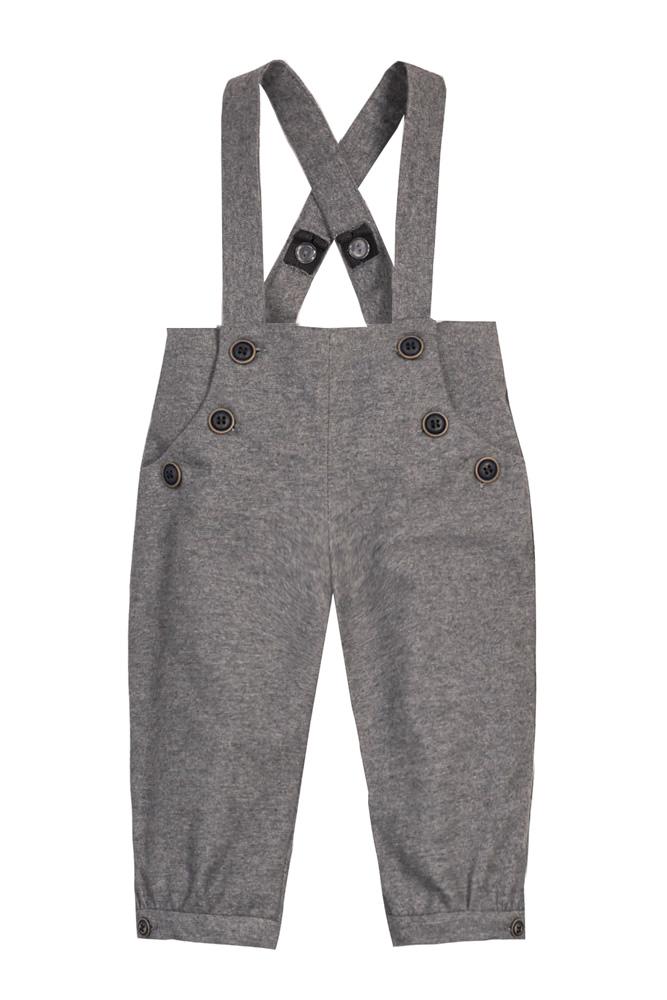 Pantaloni cu bretele pentru bebeluși Nick