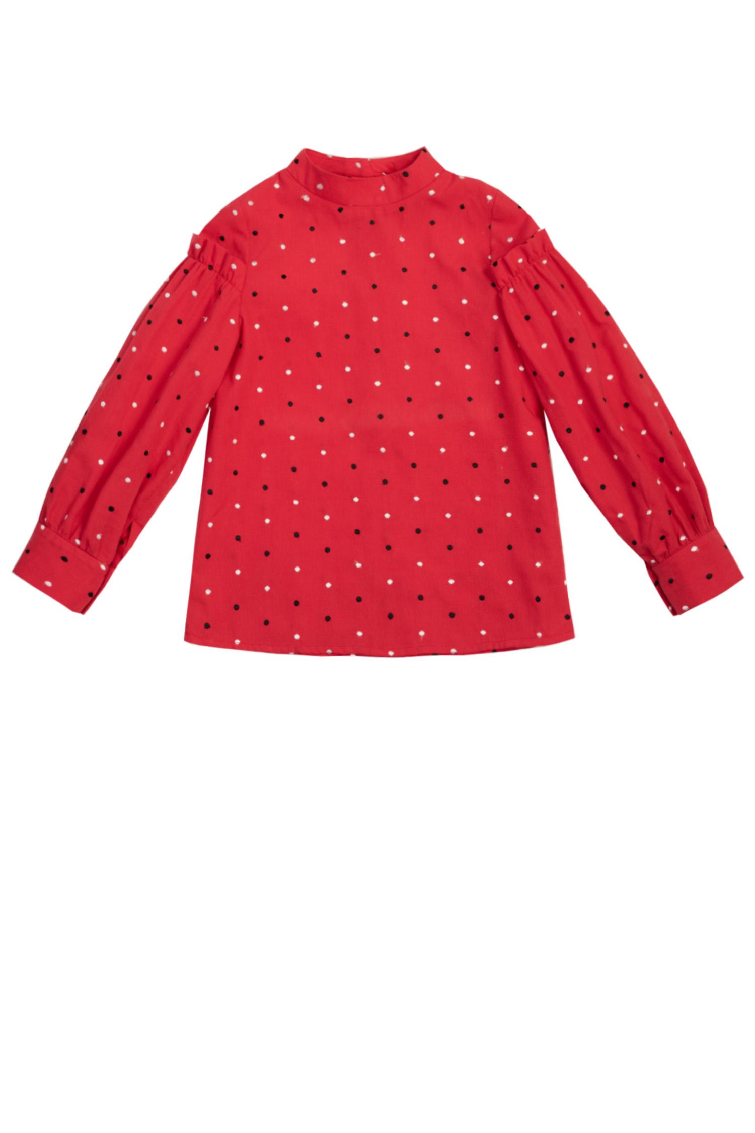 Bluză roșie pentru fete Brândușa
