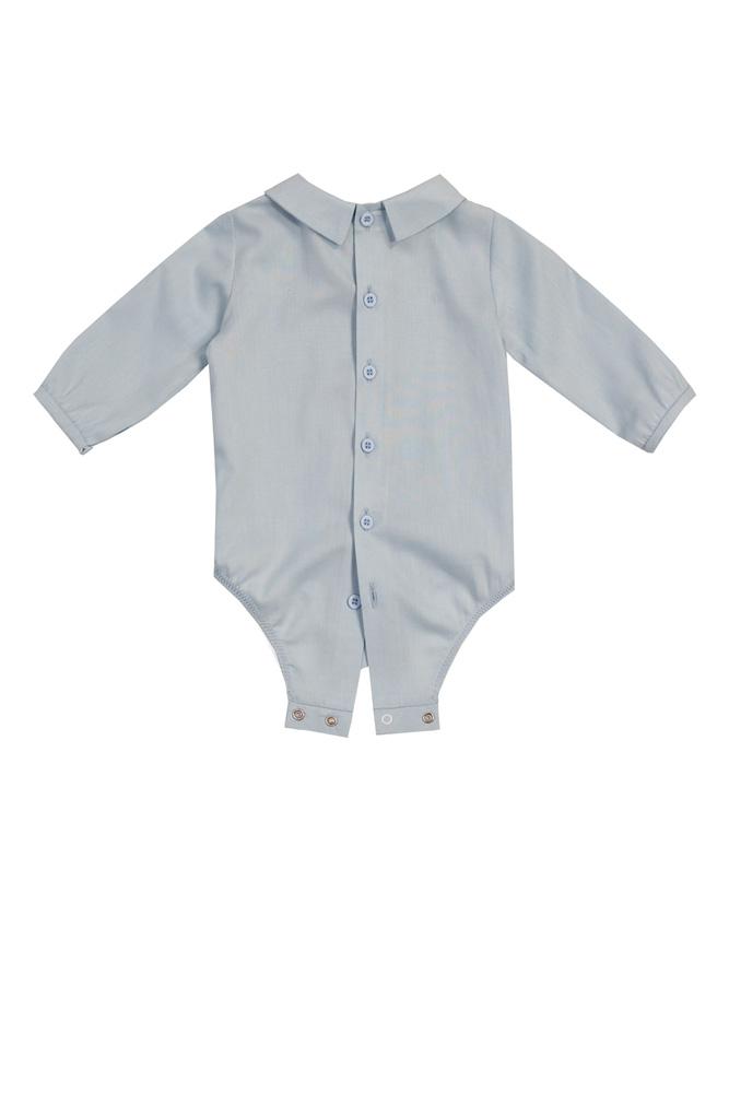 Cămașă-body bleu pentru bebeluși Nick spate