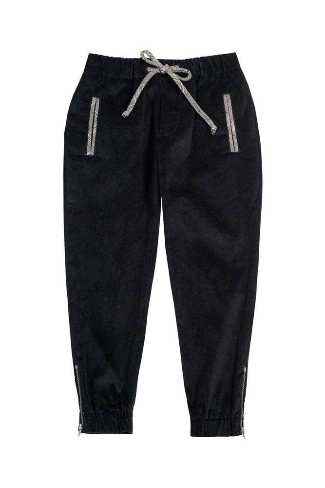 Pantaloni negri pentru băieți IRIDOR