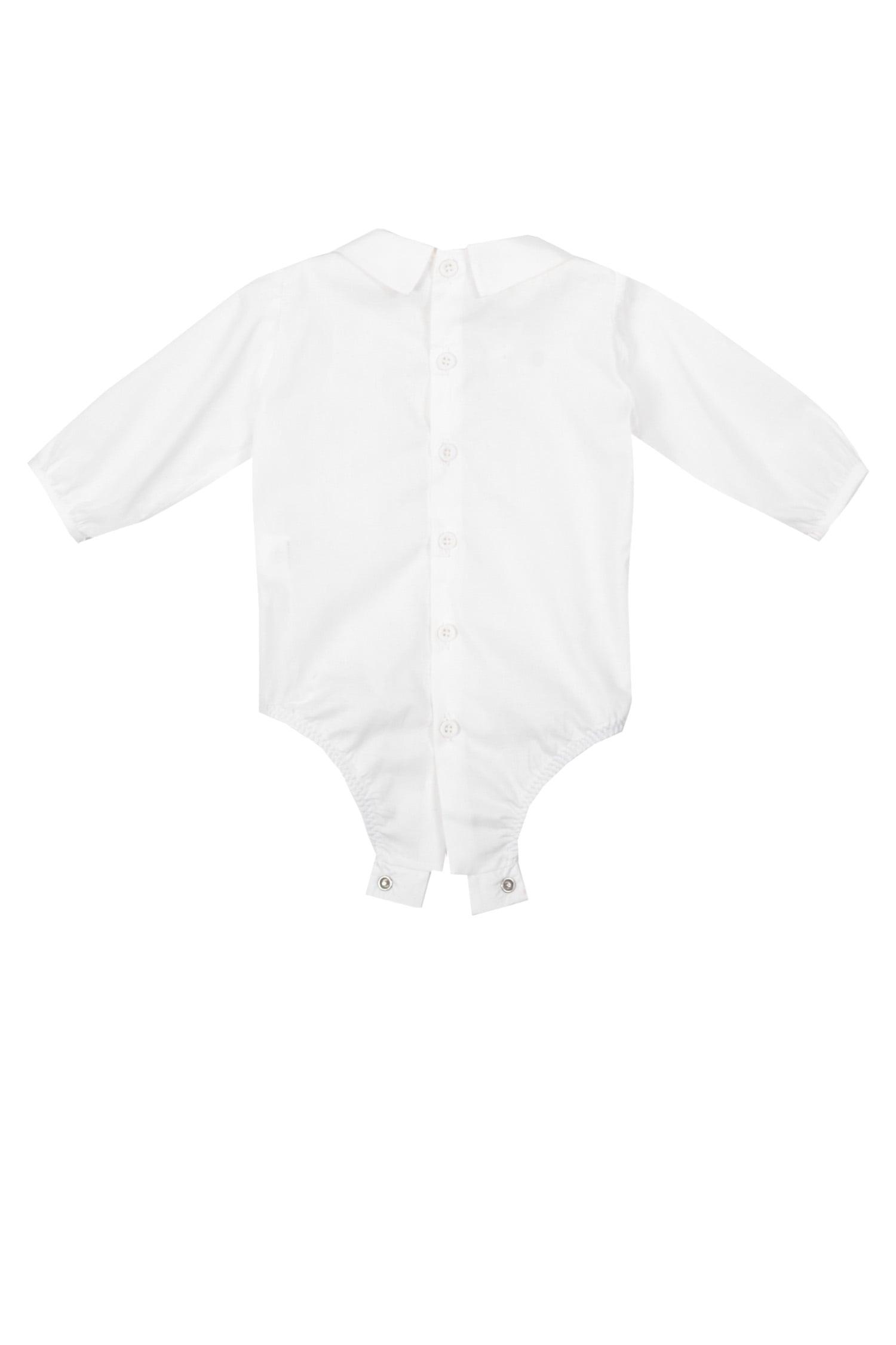 Cămașă-body albă pentru bebeluși IRIDOR- spate